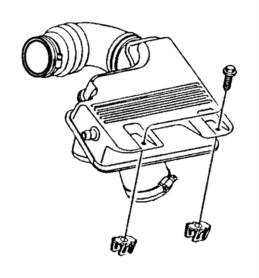 Dodge Caravan Resonator. Air cleaner. 2.4l engine