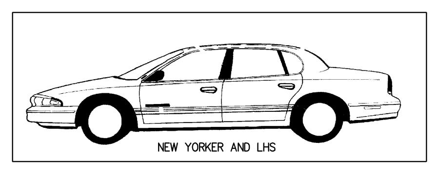 Dodge Intrepid Tape. Center pillar. Left. Blackout