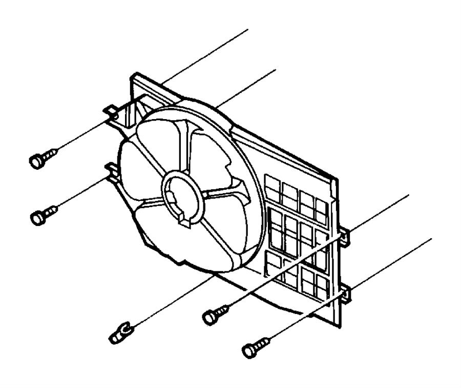 Plymouth Breeze Clip. Fan shroud. Discharge tube
