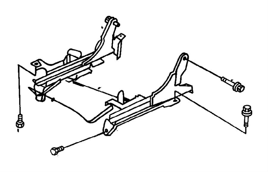 Chrysler Cirrus Adjuster. Manual seat. Driver, driver side