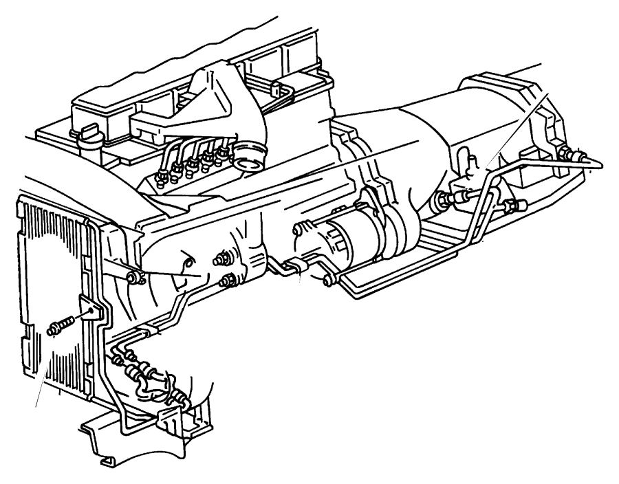 2001 Dodge Ram 2500 Tube. Oil cooler. Pressure. Intank