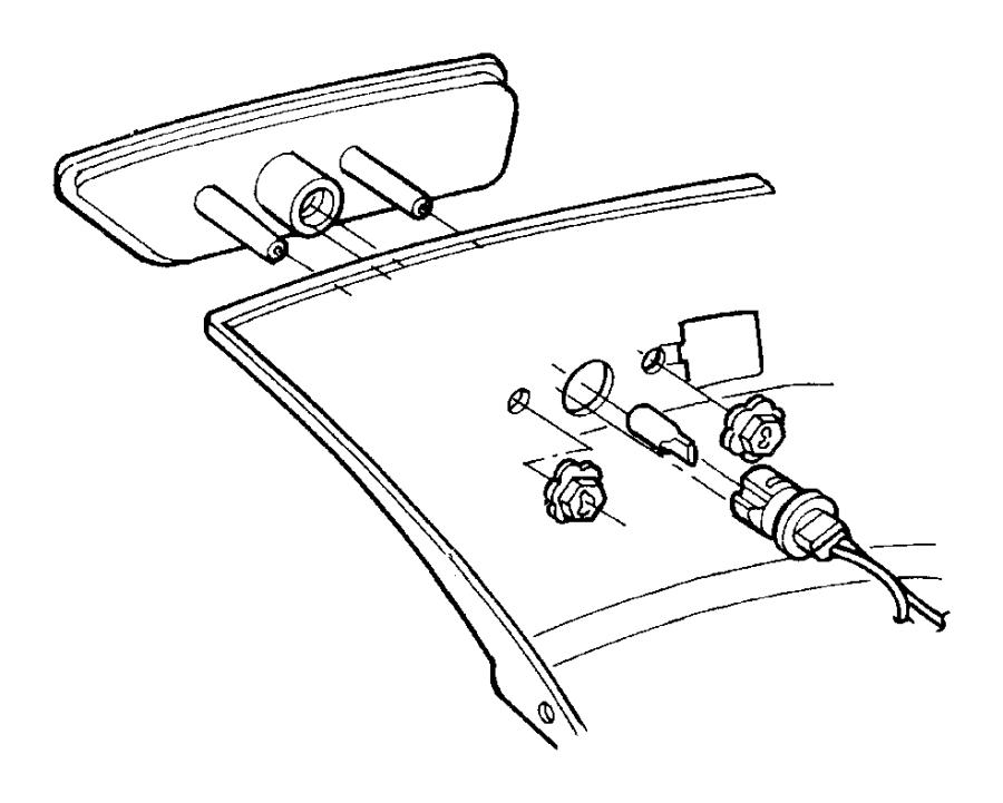 Dodge Neon Lamp. Side marker. Left. Reflex, plbody, mtd