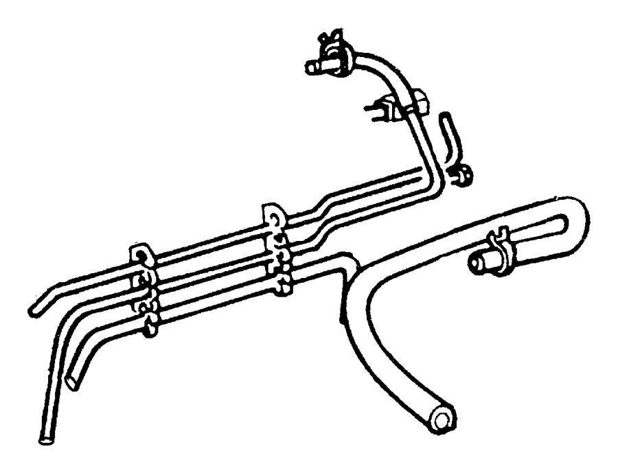 Chrysler Pt Cruiser Clamp. Hose, hose to radiator, oil