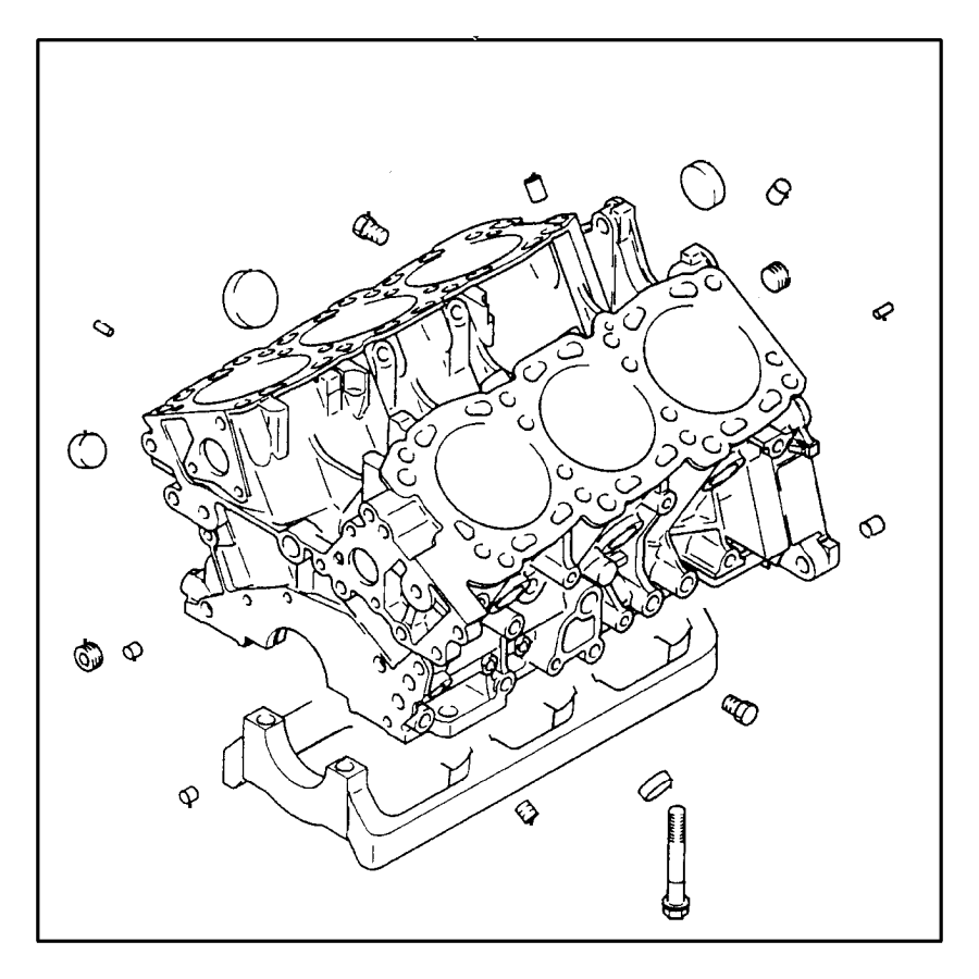 Dodge Caravan Plug. Cylinder block. 3/8npt. (taper 3/8