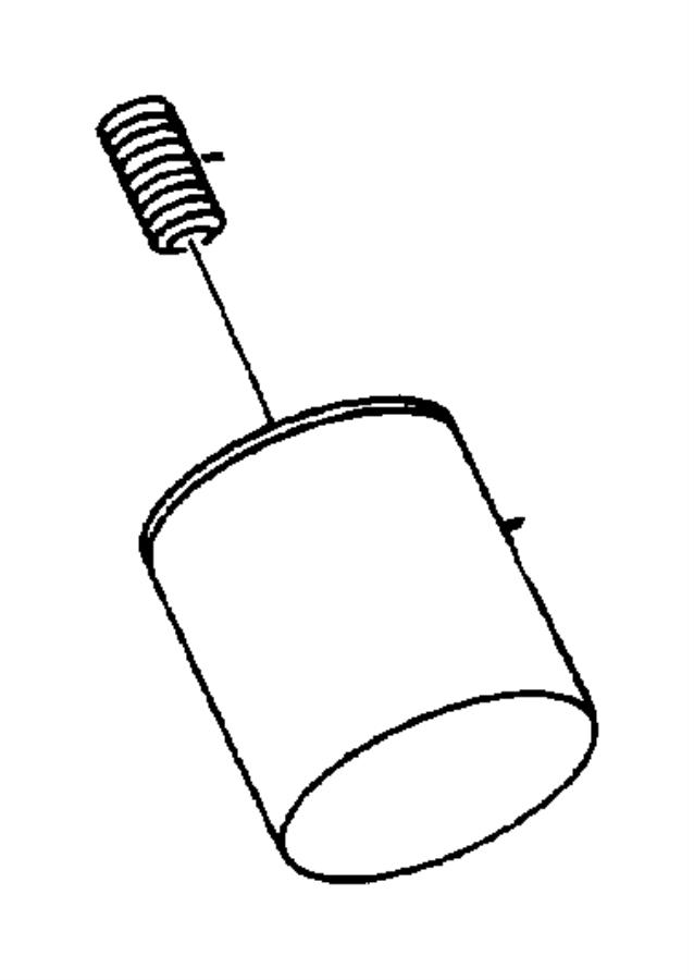 Dodge Caravan Adapter, connector. Oil filter, oil filter