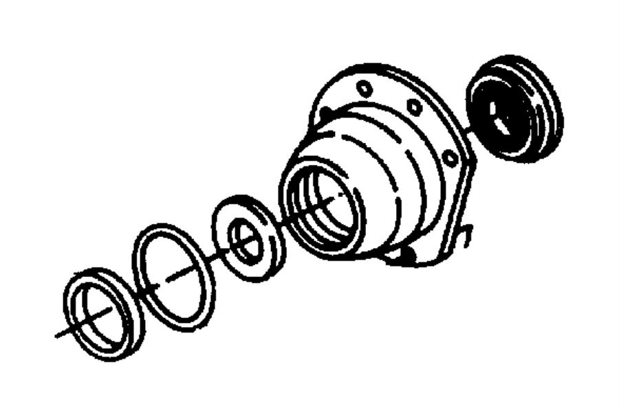 Dodge Grand Caravan Retainer. Differential bearing
