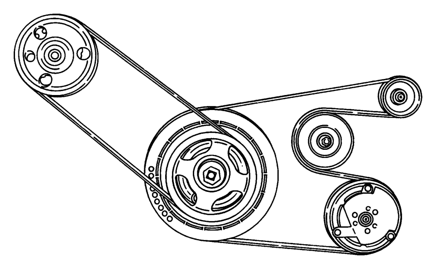 Plymouth Breeze Belt. Power steering. Steeringspeed