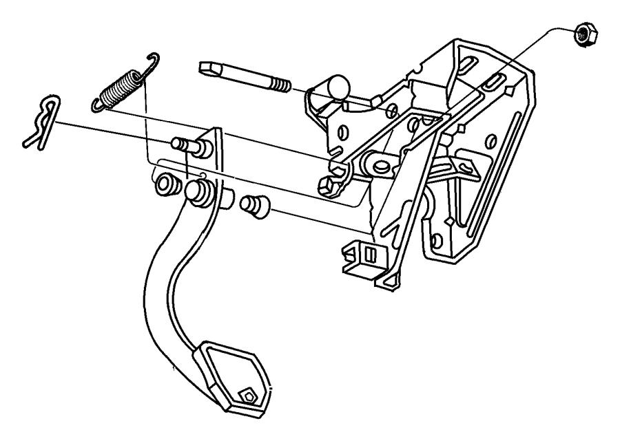 2007 Chrysler Pt Cruiser Pad. Clutch, pedal. Manual