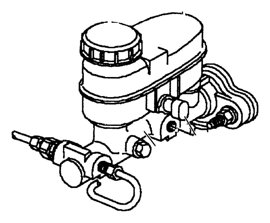 2015 Jeep Cap. Master cylinder reservoir. Export, right