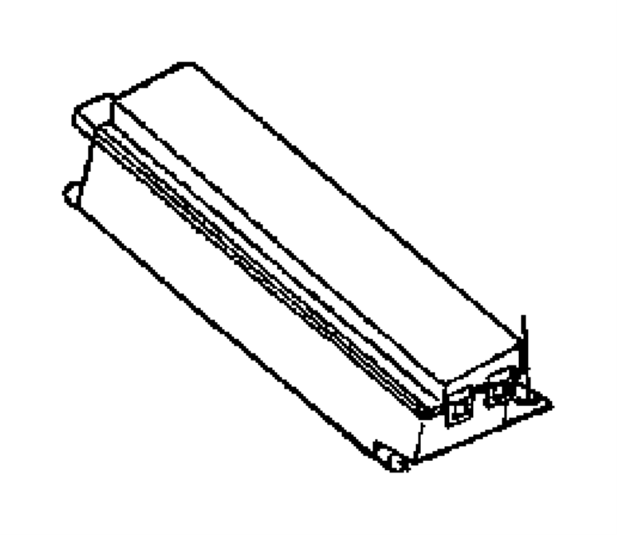 Chrysler Grand Voyager Fuse, fuse cartridge. J case. 40