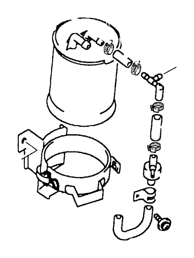 Dodge Challenger Clip. Fuel vapor tube. [lx], [lxi], [r/t