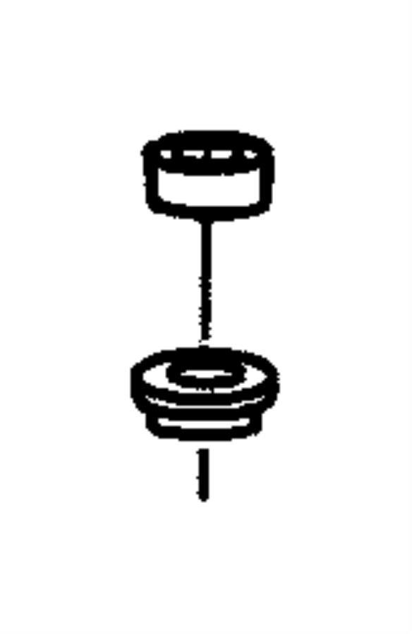 Plymouth Grand Voyager Cap nut. Antenna. Black. Antenna