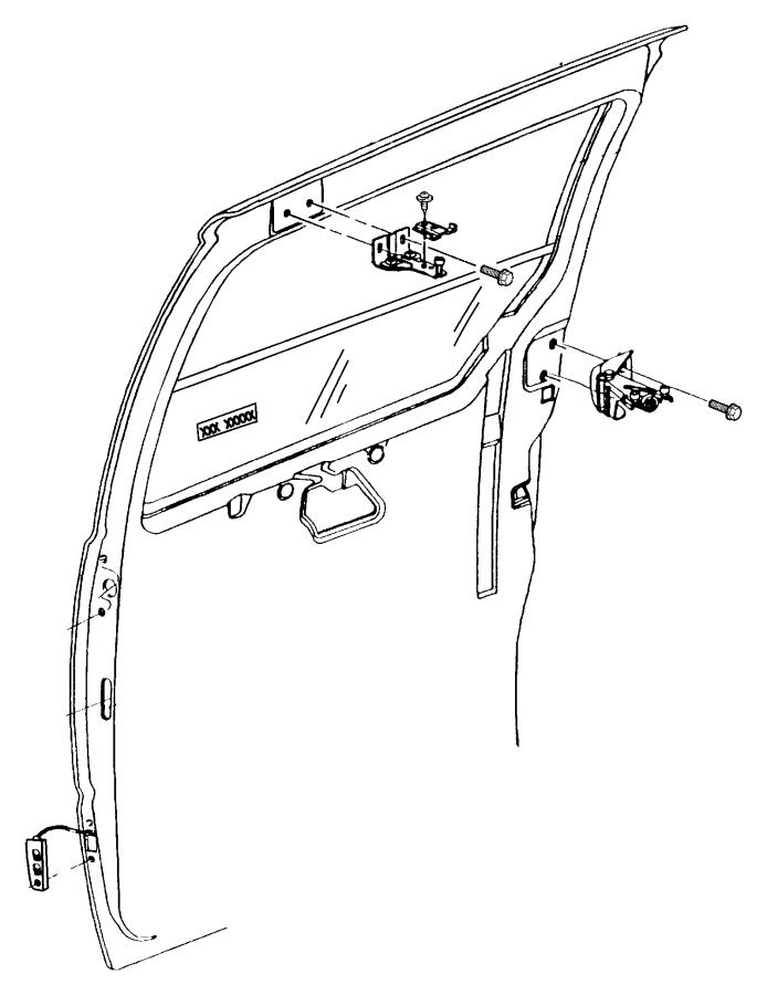 Chrysler Town & Country Hinge. Sliding door body side