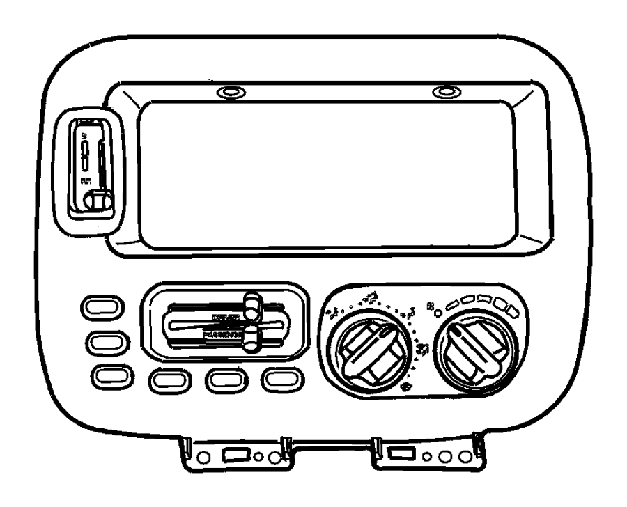 Plymouth Grand Voyager Control. Used for: a/c and heater