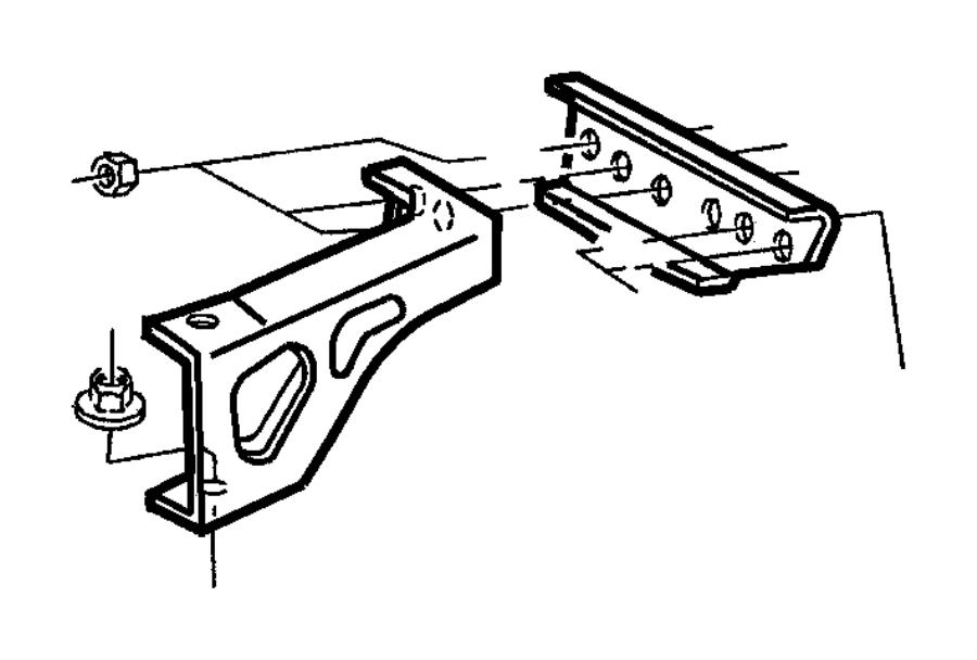 Dodge Durango Nut, used for: nut and washer. Engine mount