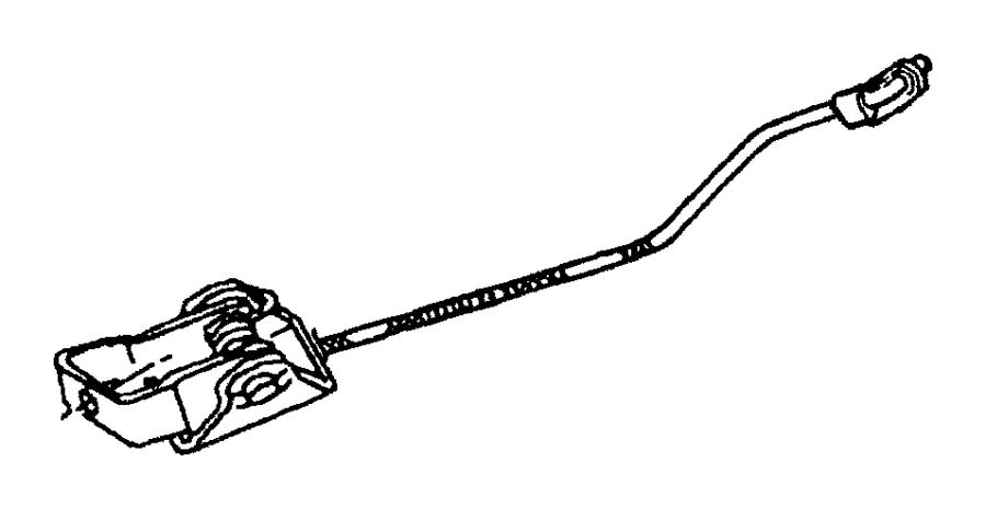Dodge Ram 1500 Clip, retainer. Latch link, lock rod. Green