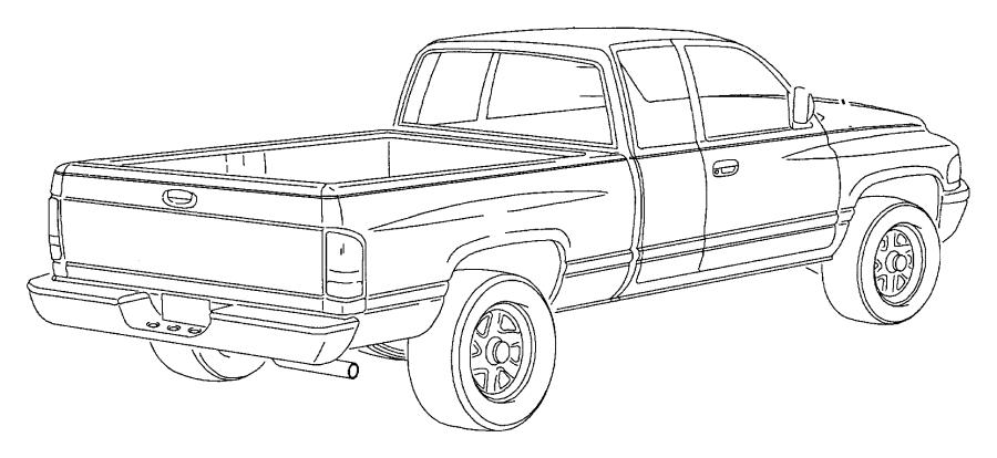1995 Dodge Dakota TAPE STRIPES AND DECALS N BODY, EXCEPT SPORT