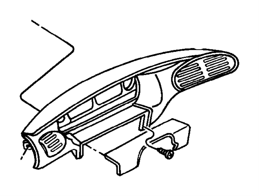2000 Dodge Grand Caravan Bezel. Instrument cluster. Black