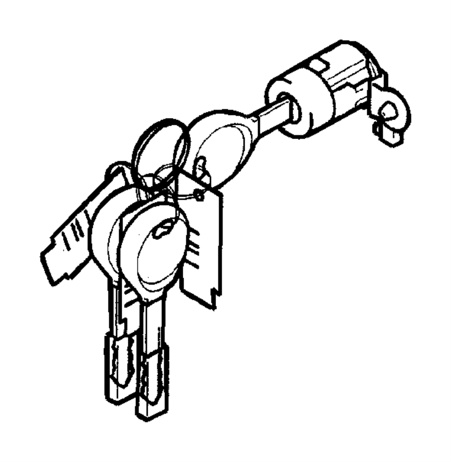 Chrysler Sebring Used for: CYLINDER AND KEY. Lock. Manual