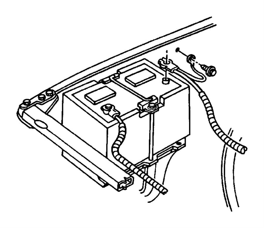 Dodge Ram 2500 Wiring. Battery positive. Left, right
