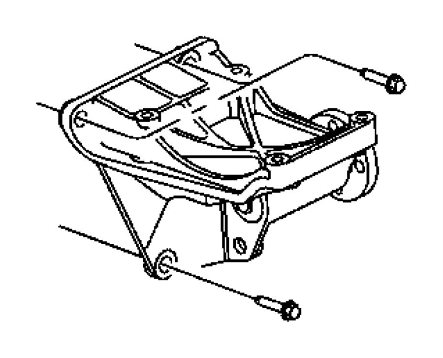 Jeep Grand Cherokee OVERLAND Screw and washer. Alternator