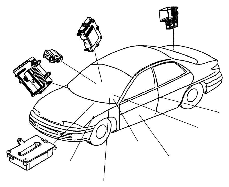 Chrysler Sebring Relay. Convertible top. Control module