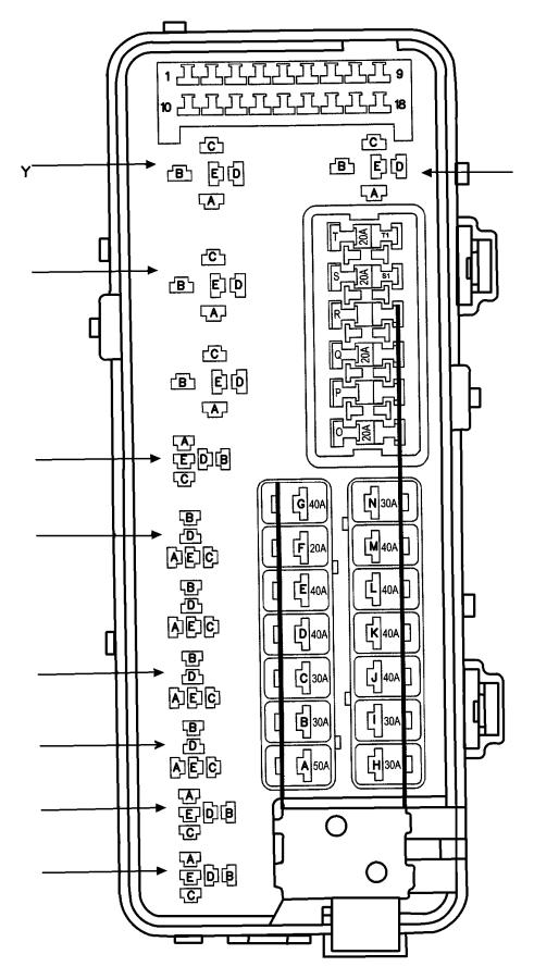 Dodge Grand Caravan Fuse cartridge. 50 amp. Export, us
