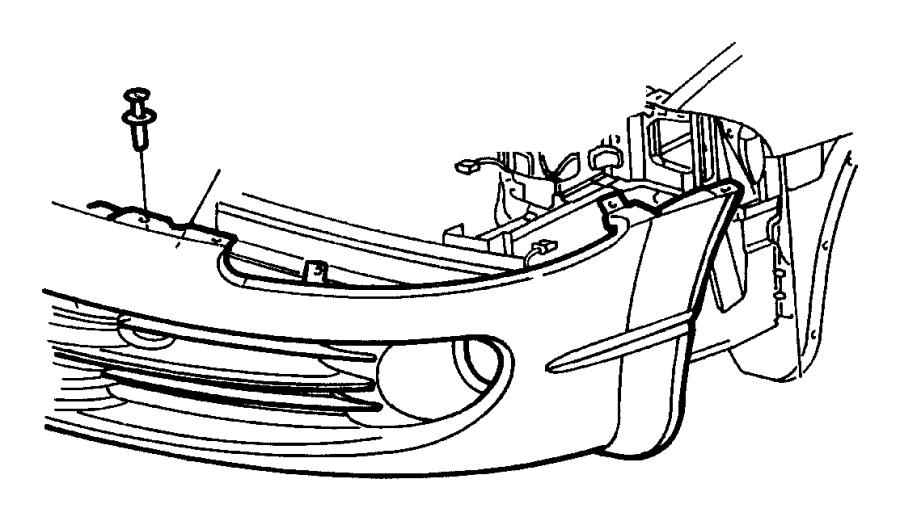 1999 Chrysler Lhs Kit. License plate. Fastener. [mda