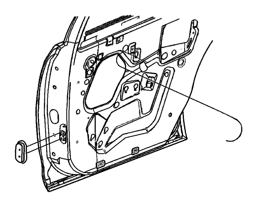 Dodge Stratus Regulator. Rear door window. Left