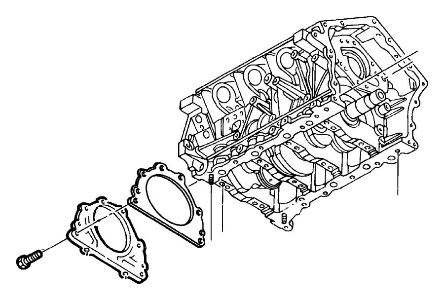 Dodge Stratus Gasket. Rear oil seal retainer. Ees