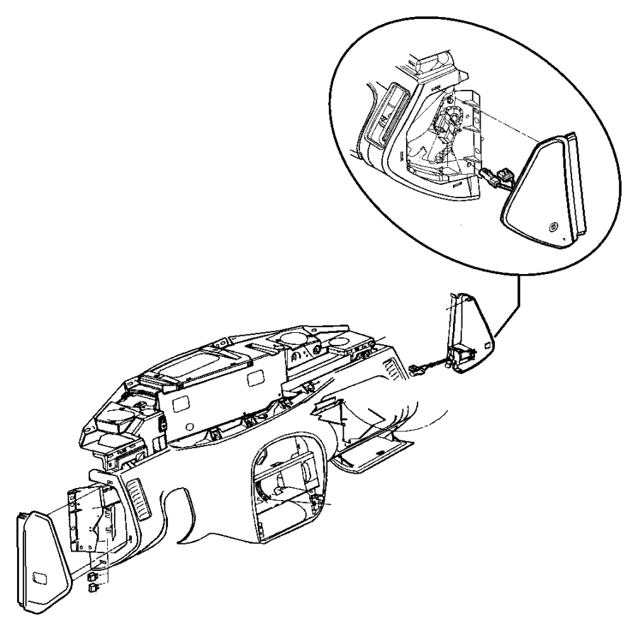 Plymouth Prowler Latch. Glovebox. [az], agate. Trim: [all