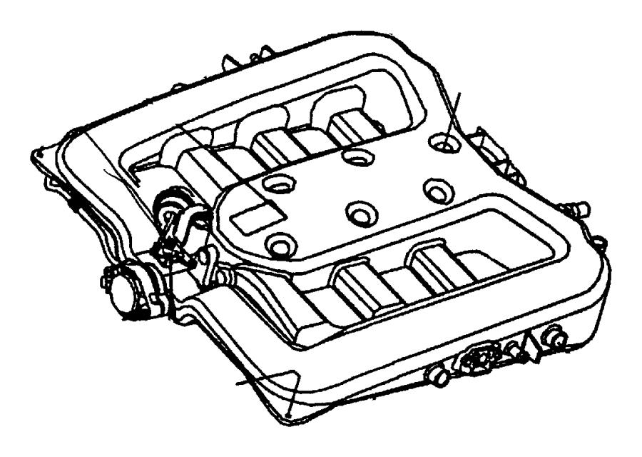 Plymouth Prowler Gasket. Intake plenum. Intake manifold