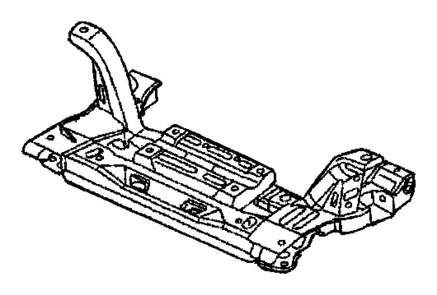 2001 Chrysler Crossmember. Front suspension. 6 bolt