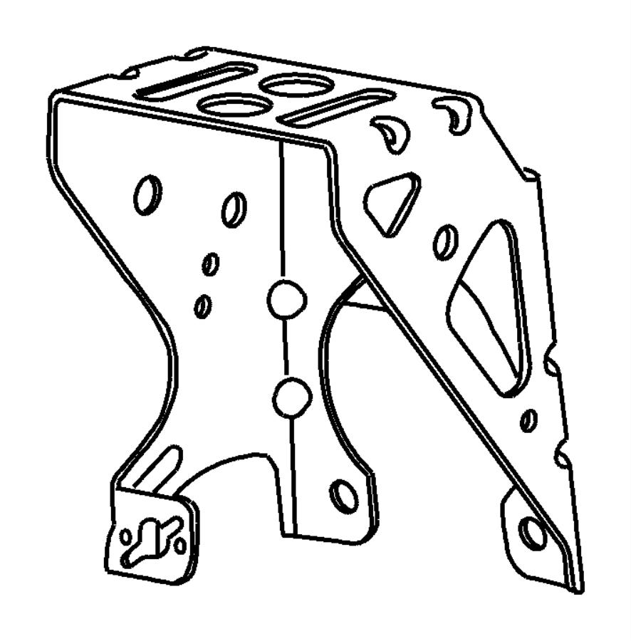 Chrysler Pt Cruiser Bracket. Brake pedal. Manual