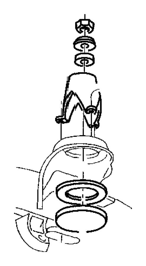 2006 Dodge Ring. Shock absorber. Mounting. Studs, shocksbt