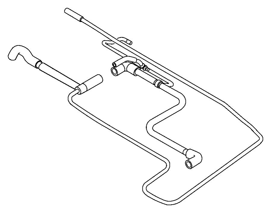 Chrysler Pt Cruiser Tube. Fuel vapor vent filter