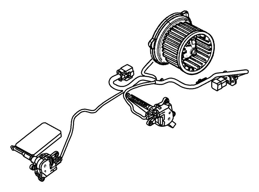 Dodge Durango Packing, seal. Blower motor, evaporator