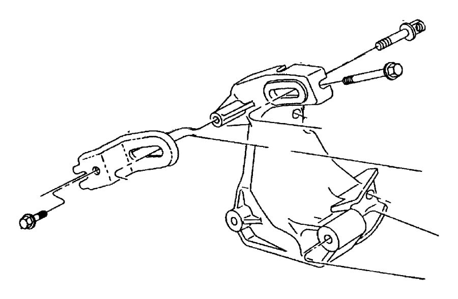 Plymouth Breeze Strut. Alternator bracket. To engine