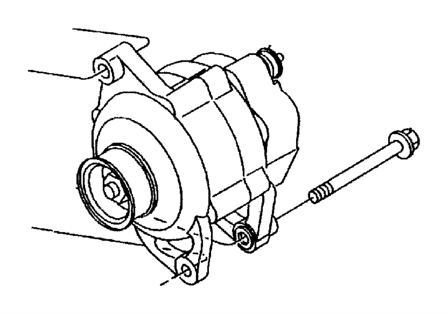 Dodge Stratus Generator. Engine. [125 amp alternator