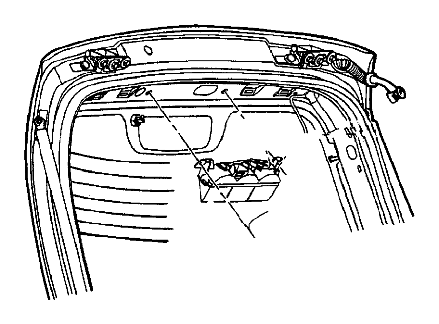 Chrysler Pt Cruiser Wiring. Liftgate. Without power doors