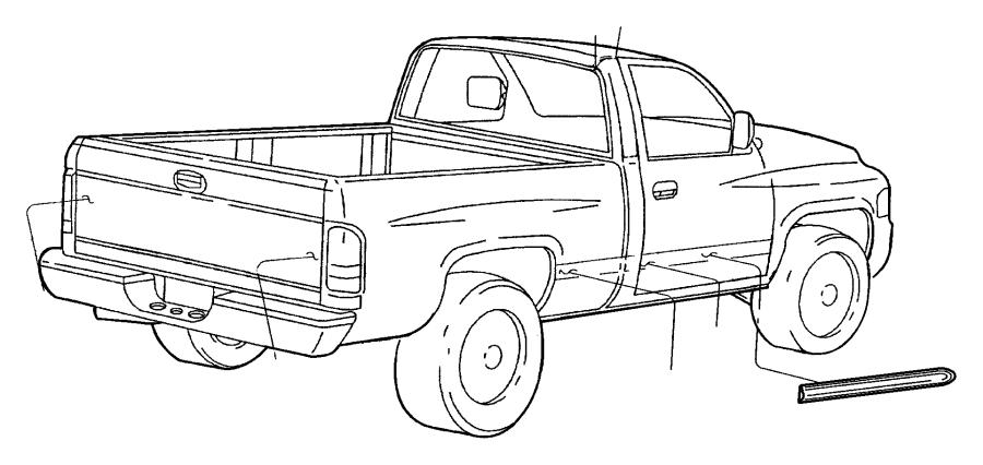 2001 Dodge Ram 1500 Applique. Tailgate. Applique, tailgate