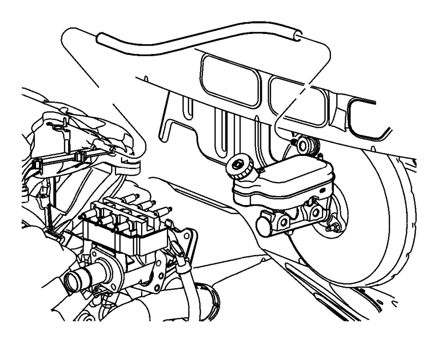 Dodge Grand Caravan Hose. Brake booster vacuum