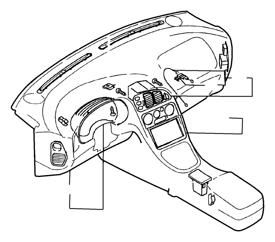 Dodge Ram 1500 Spring. Ash receiver, instrument panel