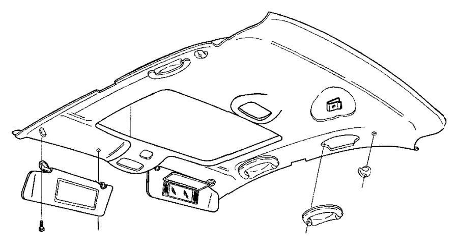 1999 Chrysler Lhs Air Conditioning Unit.