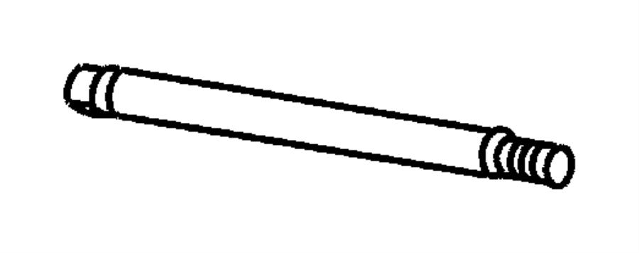 Chrysler Pt Cruiser Shaft. Brake pedal pivot. Left hand