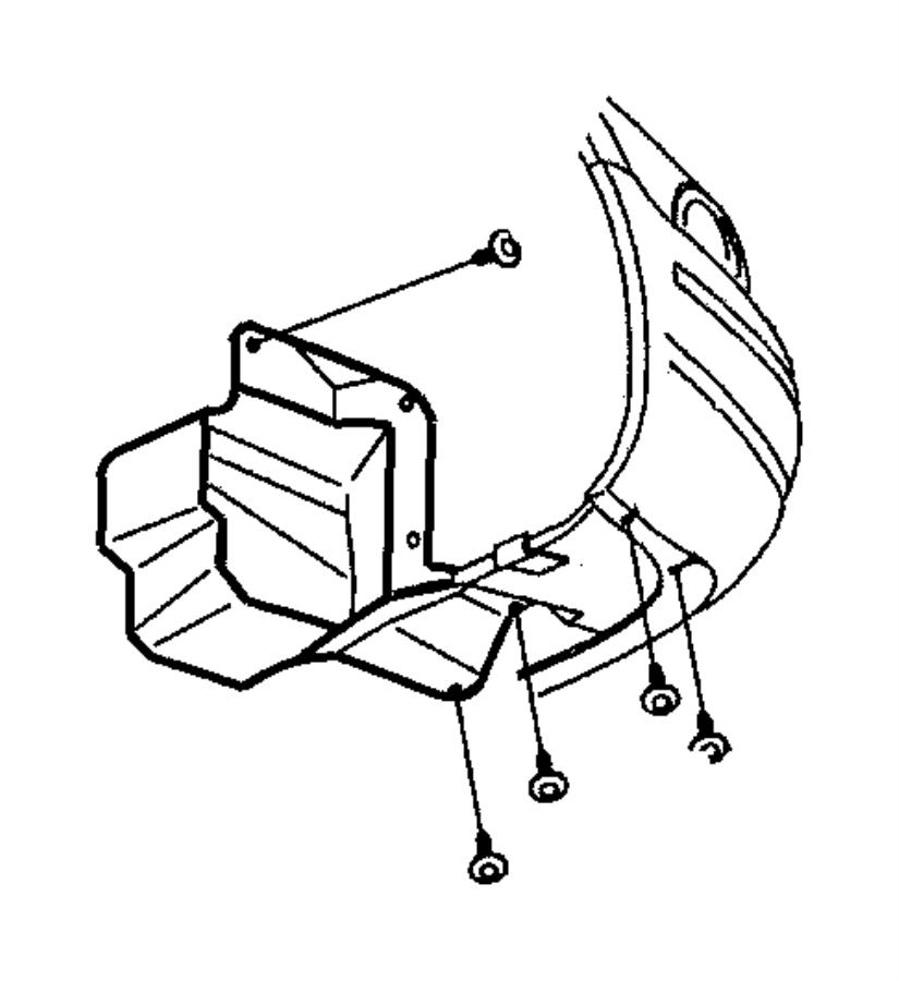 Dodge Stratus Shield. Accessory drive. Right. 2.4l engine
