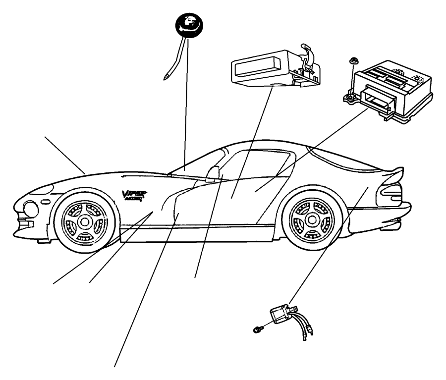 Dodge Viper Wiring. Led security. W/lens, w/red lens