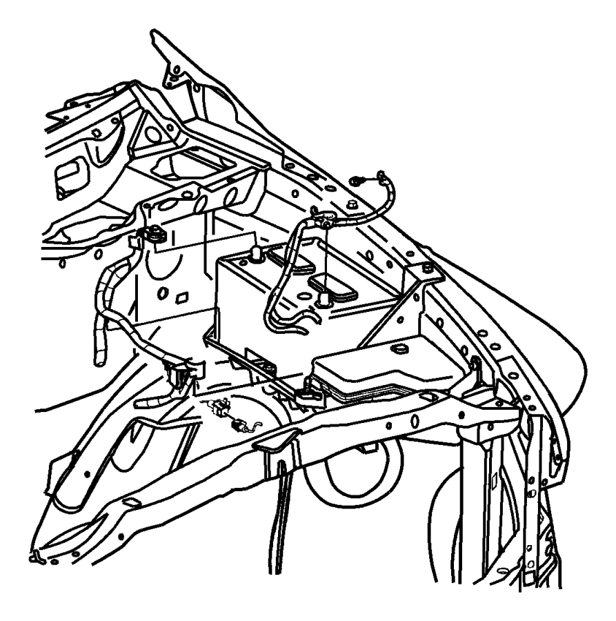Dodge Ram 1500 Wiring. Battery positive. Left side