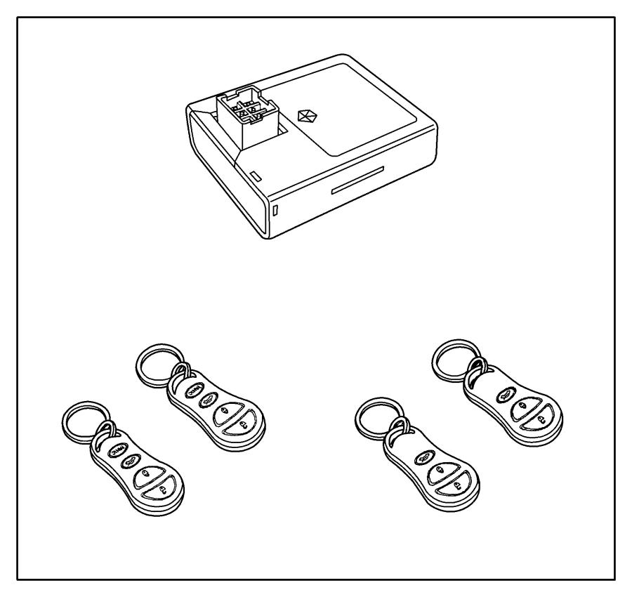 2013 Dodge Dart Keyless Entry System, MODULE PACKAGE