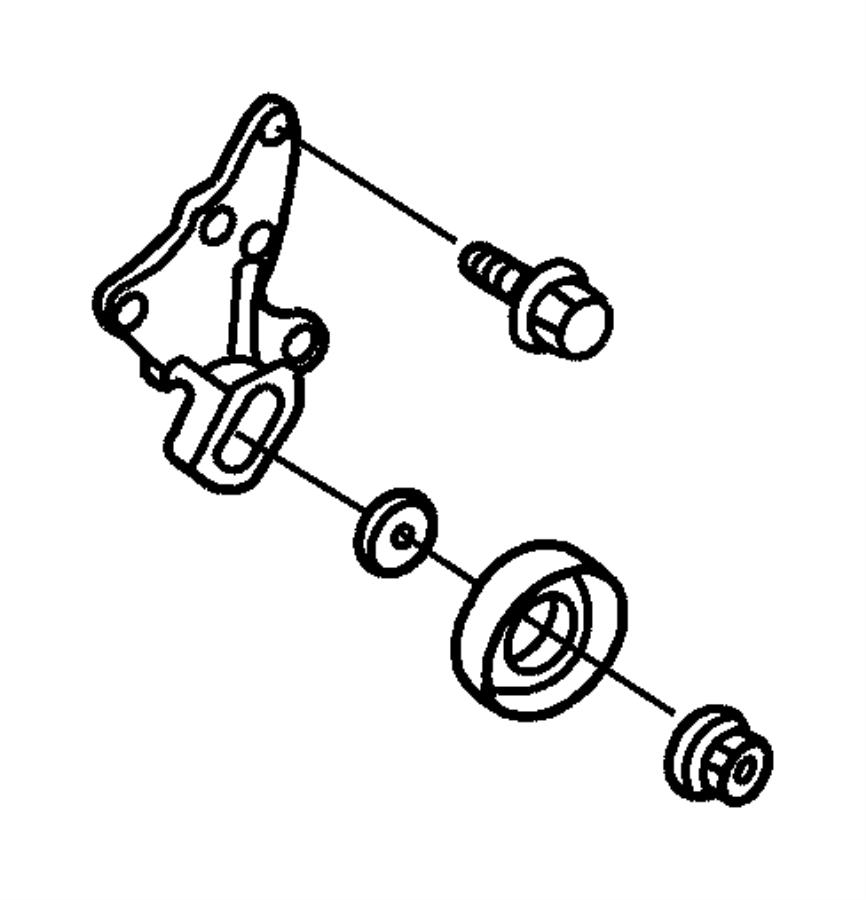 Chrysler Concorde Spacer. Idler pulley. Power steering